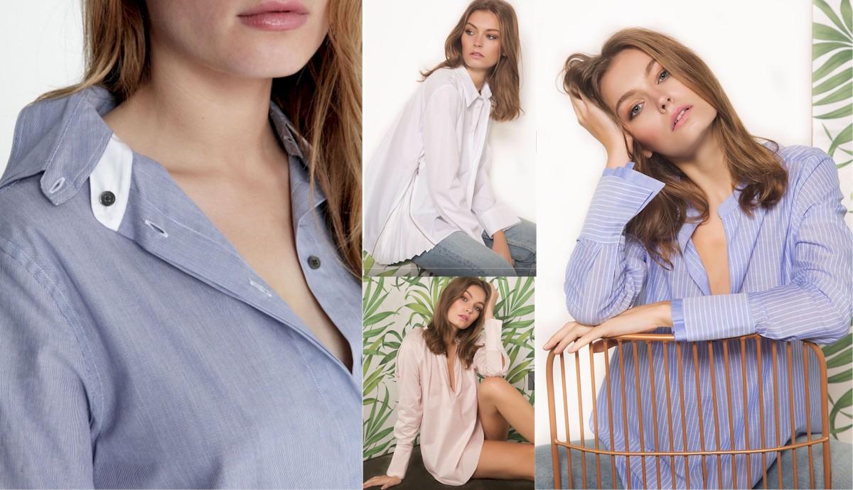 HANA SAN Chemises coton haut de gamme